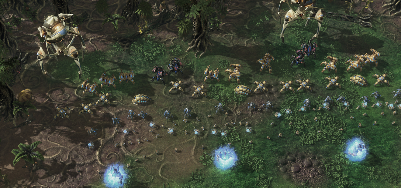 Protoss before battle