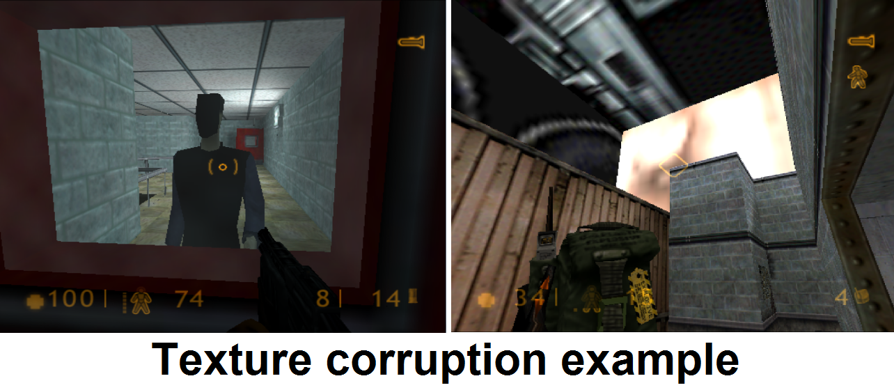 Texture corruption examples.