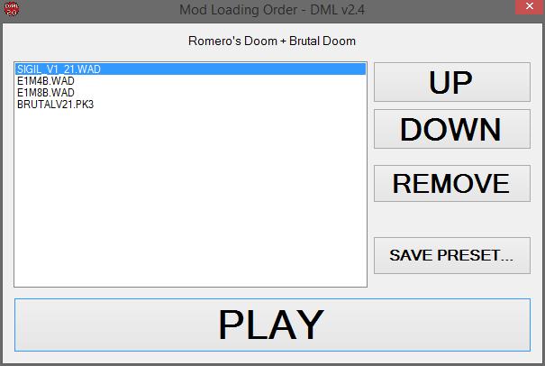 DML 2 4 mod order window