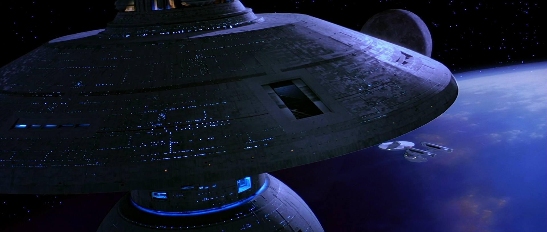 USS Enterprise approaches Spacedock