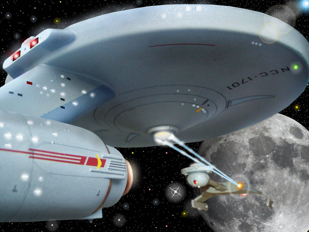 TOS ships in action