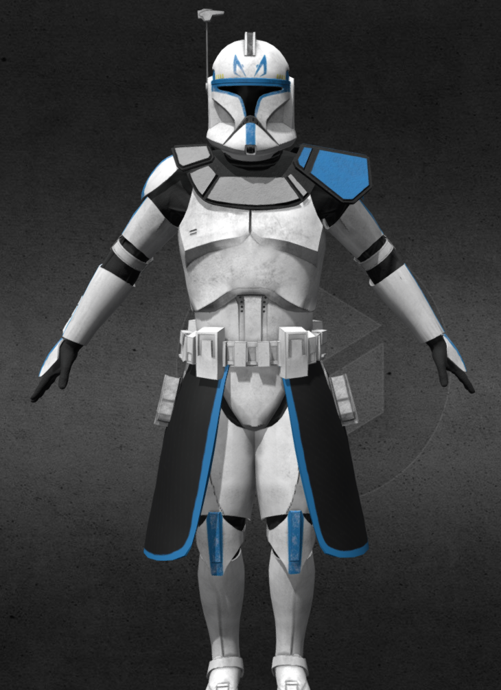 Phase I Clone Commader Rex of the 501st