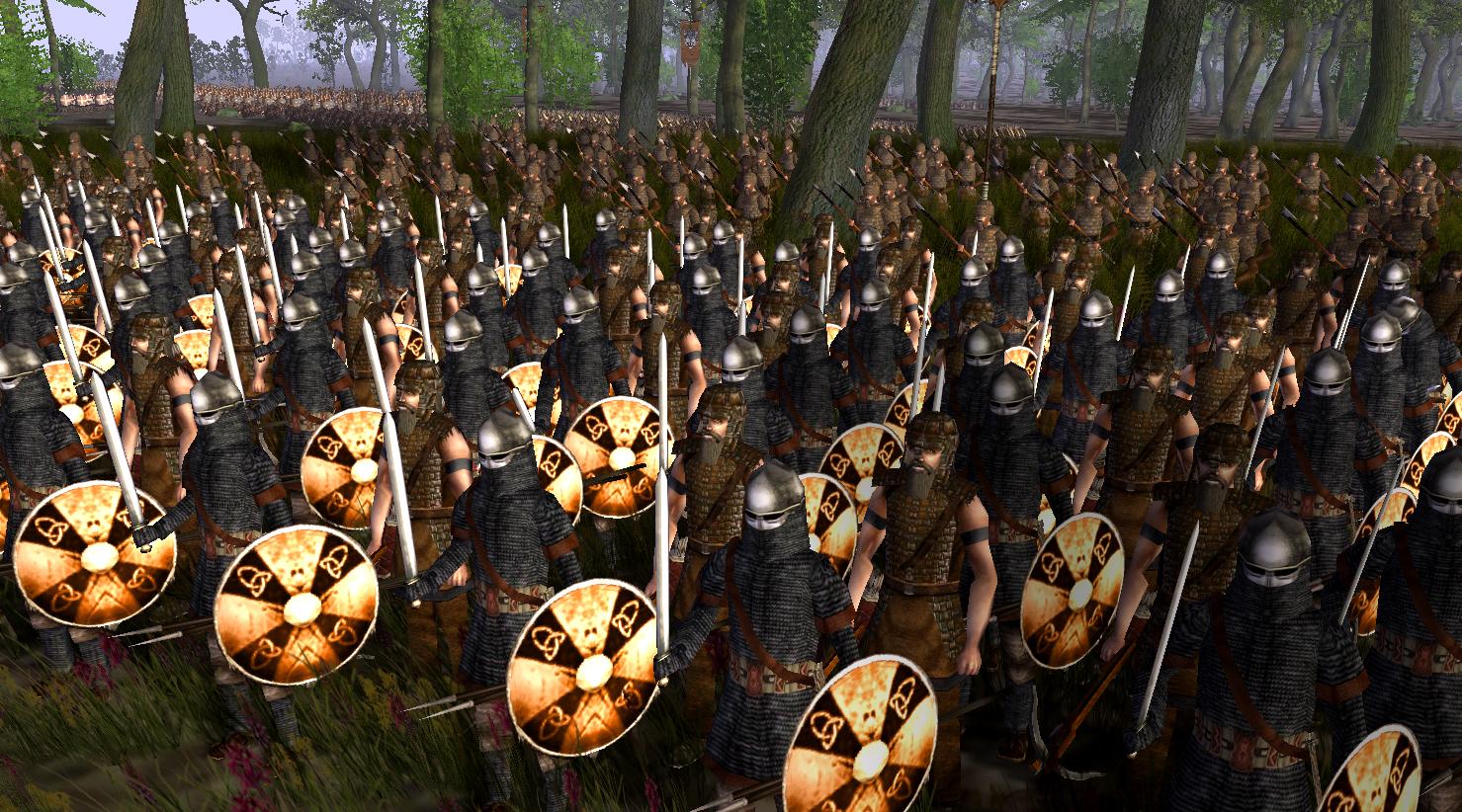 Saxon infantry battleline