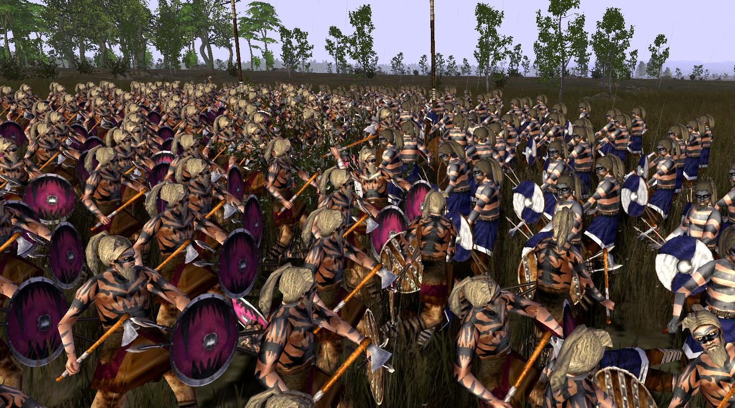 Frankish Raiders fighting with Burgundiones Night Raiders