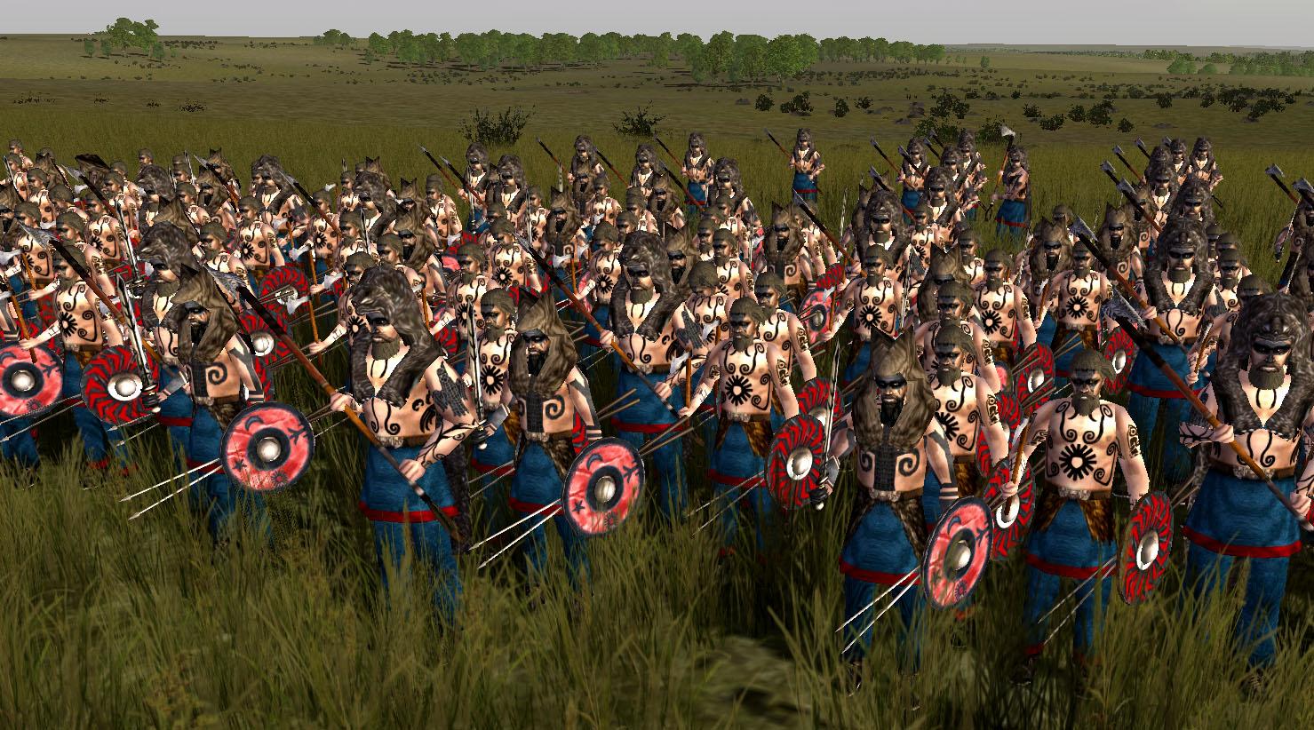 Alemanni barbarian horde