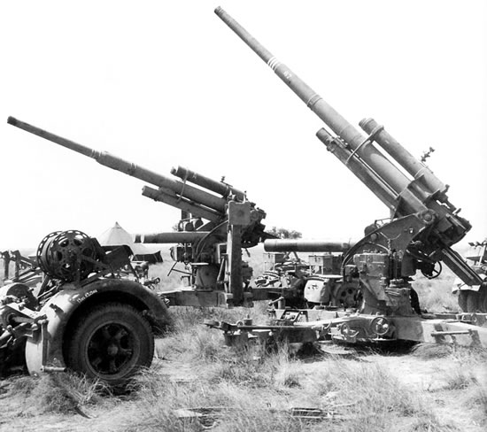 88 mm flak 18 flak 36 north afri