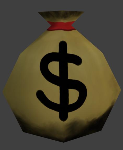 Money Bag Render Image