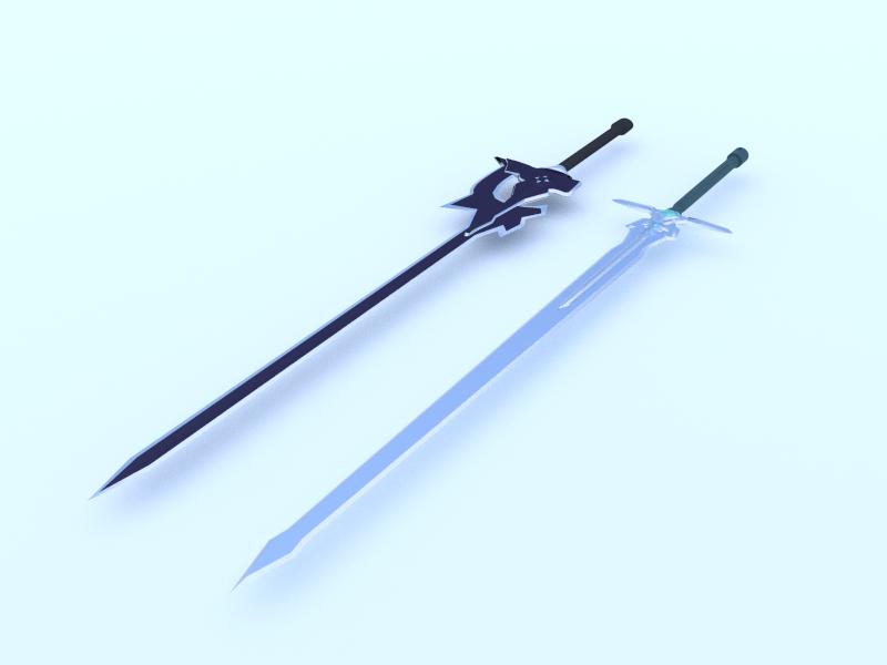 sao  kirito u0026 39 s swords image - joyfulsushi