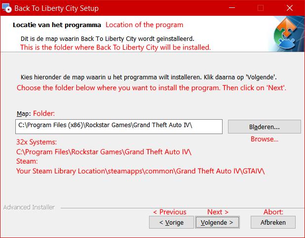 Choose GTA IV Location