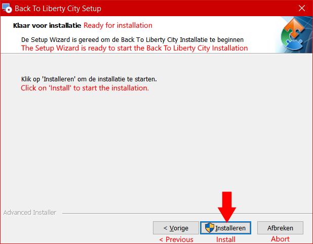 Click Installeren