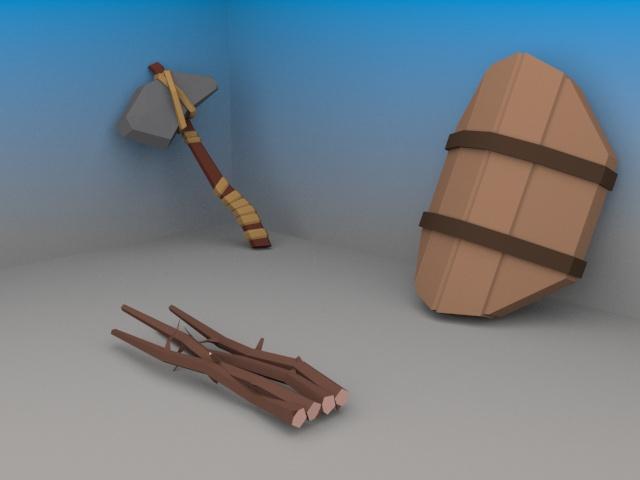 escudo e machado 2