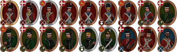 denmark infantry icons