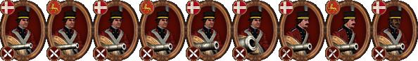 denmark artillery icons