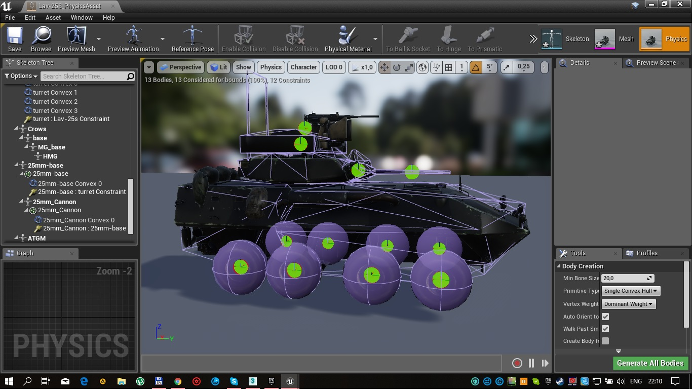 Lav 25S collision simple system in UE4 image - RostRazzor - Mod DB