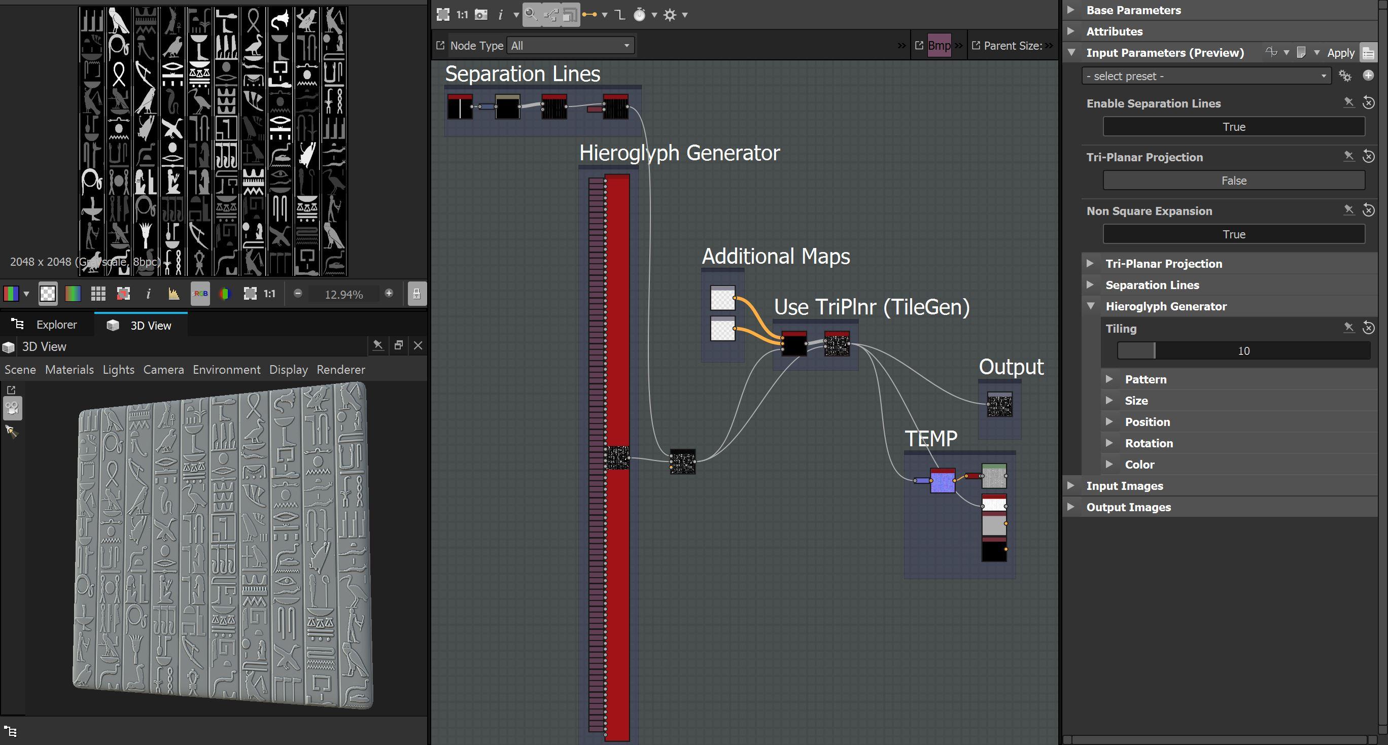 Egyptian Hierogliph Generator Gr