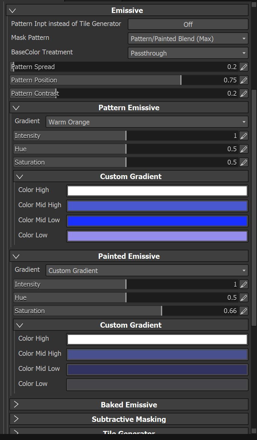 Emissive Filter New Options