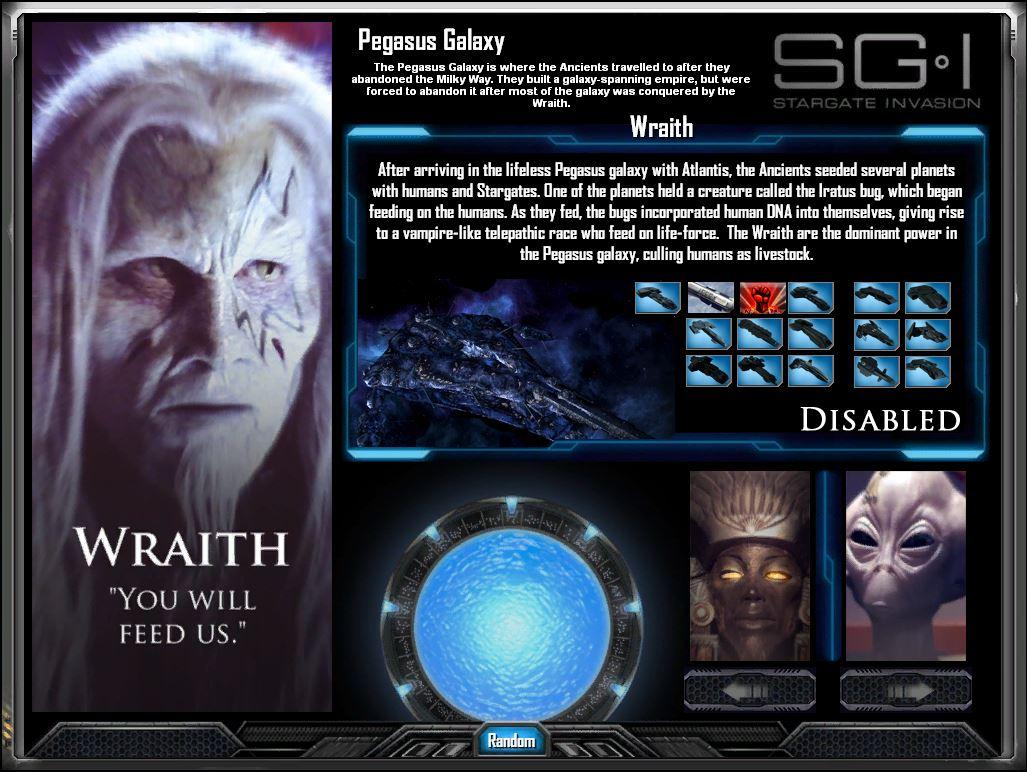 Race Selection Wraith