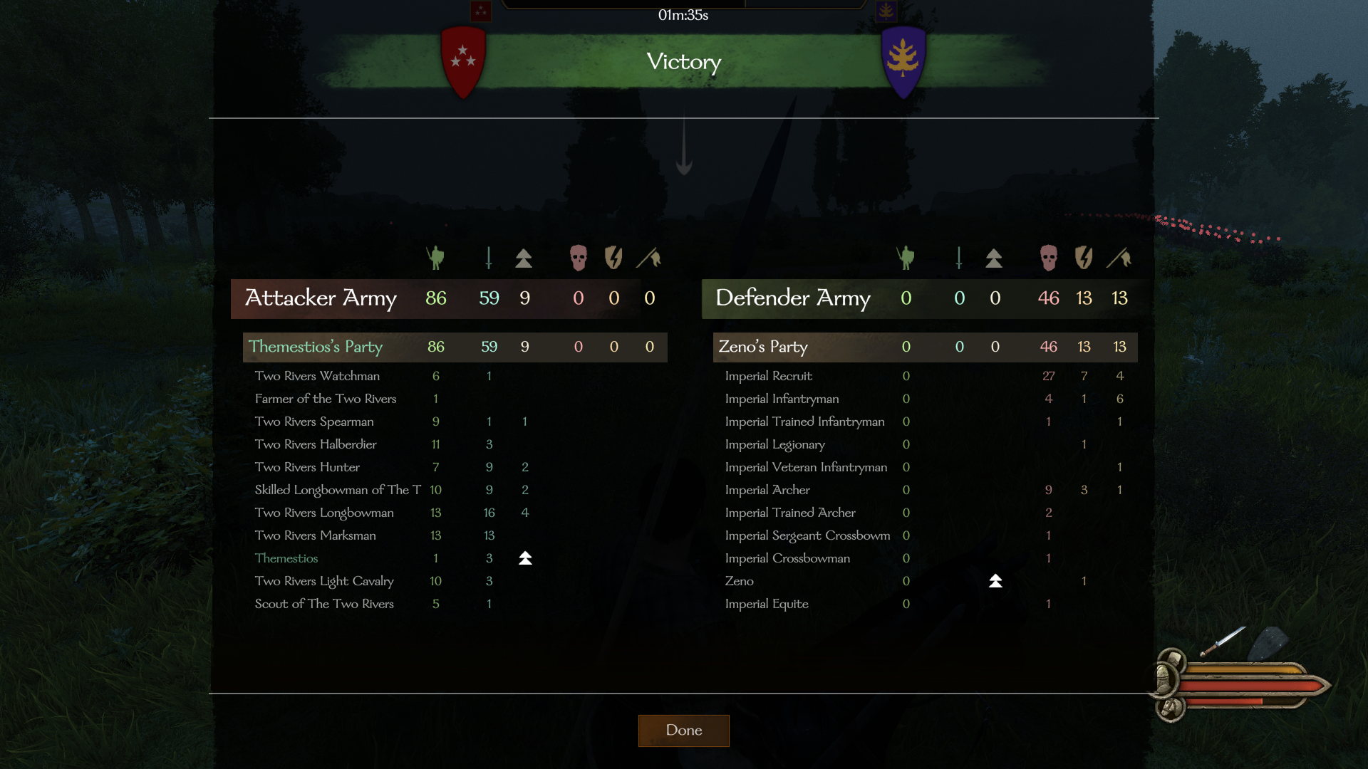 Victory for the Two Rivers!