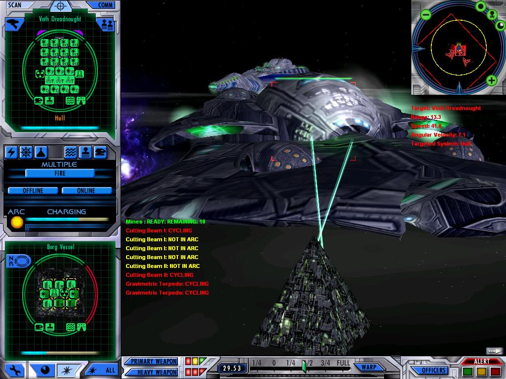Borg attacking Voth dreadnought