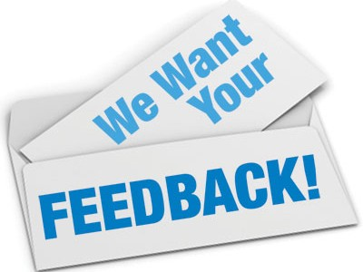 We Want Your Feedback 400x300