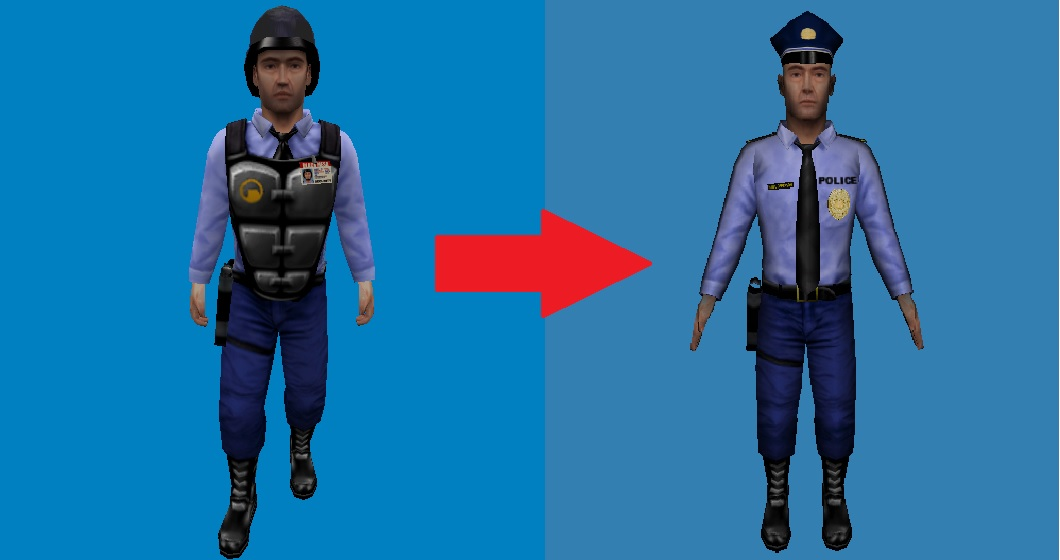 a generic police officer from the mod