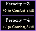 Implicit and highly modifiable combat value.