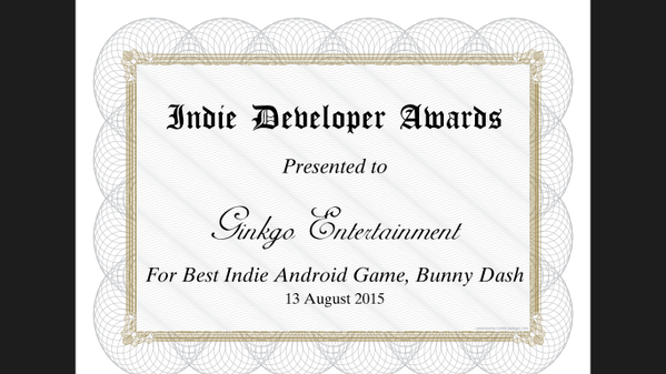 Indie Dev Award