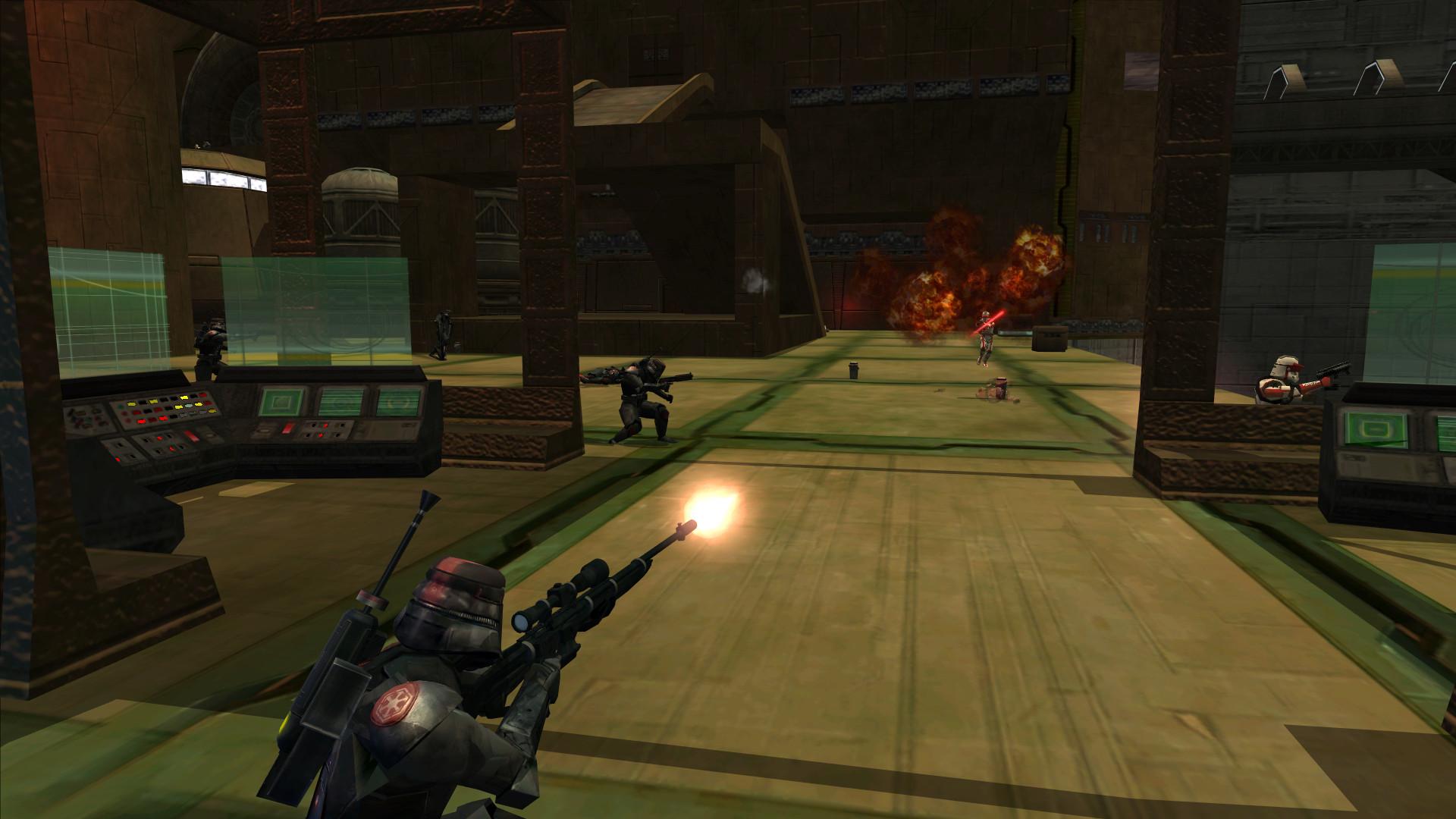 A Sniper takes a shot