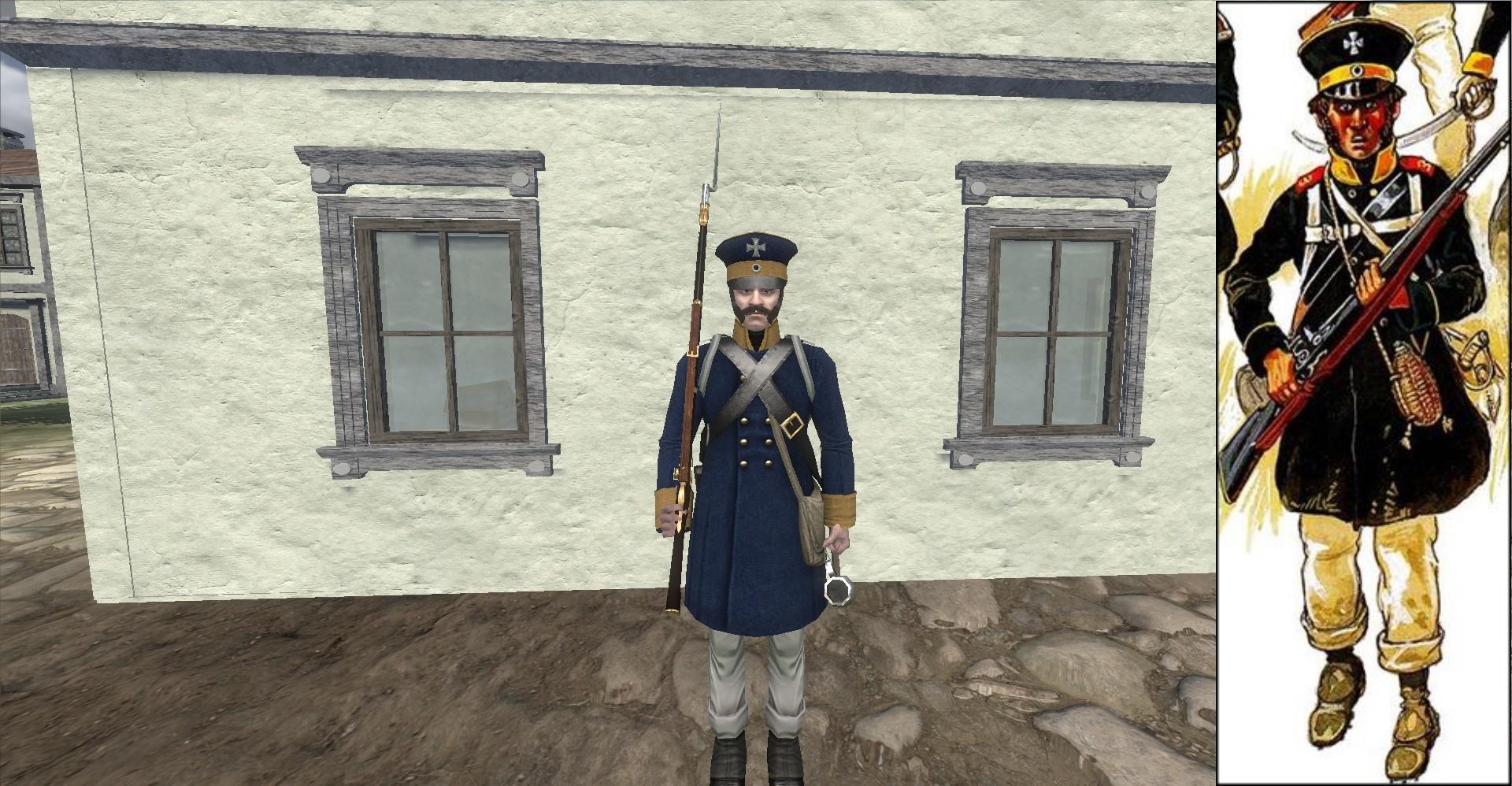 Kurmarkische Landwehr-Regiment Reskin