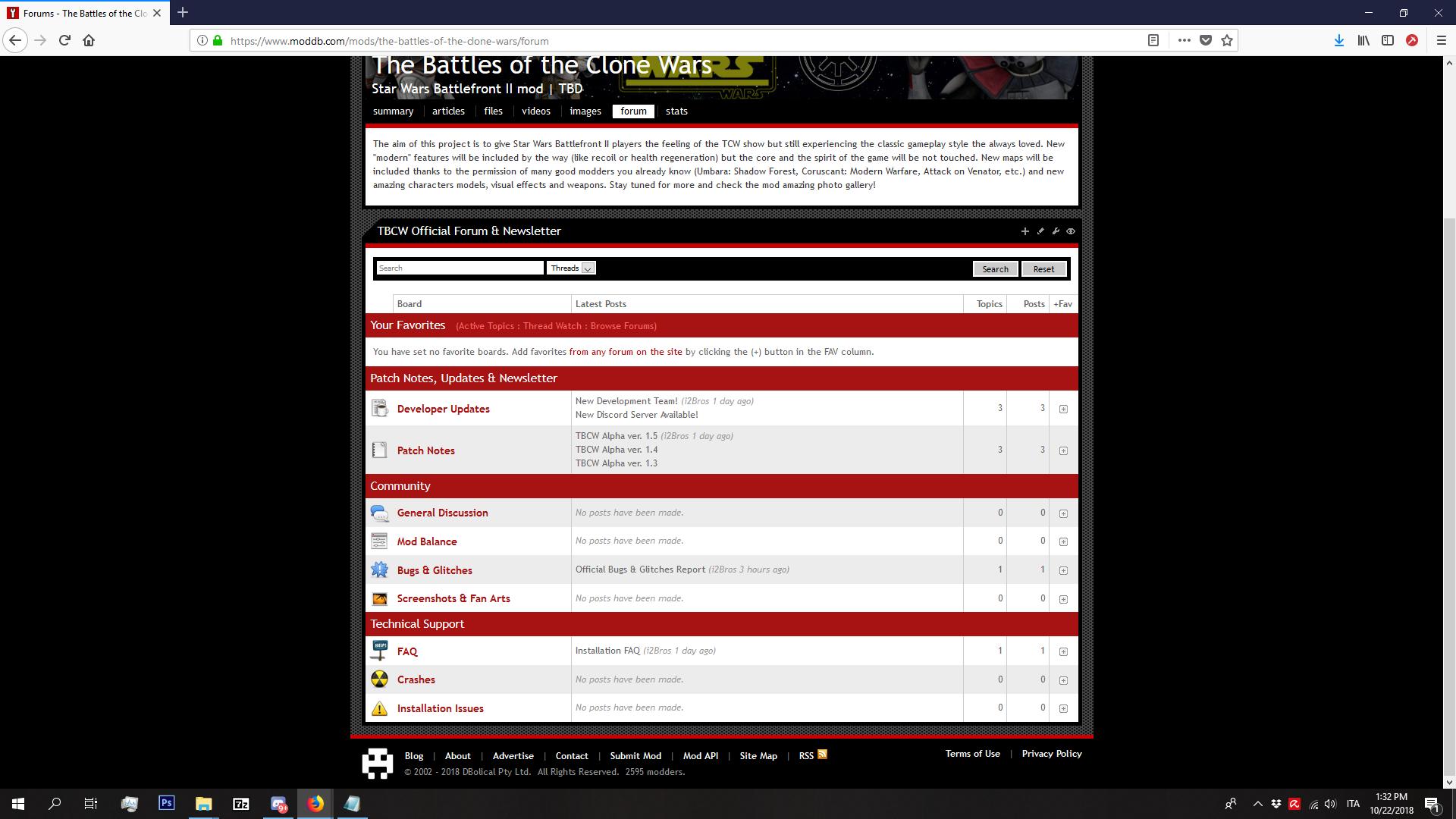 Forums on ModDB
