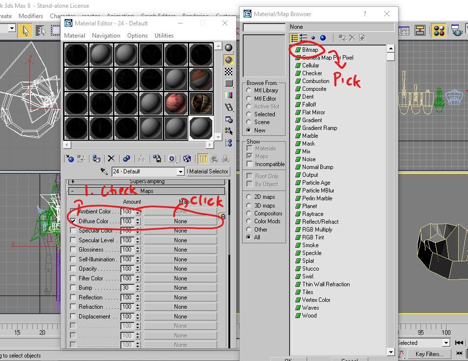 3dsmax8 create shader 2