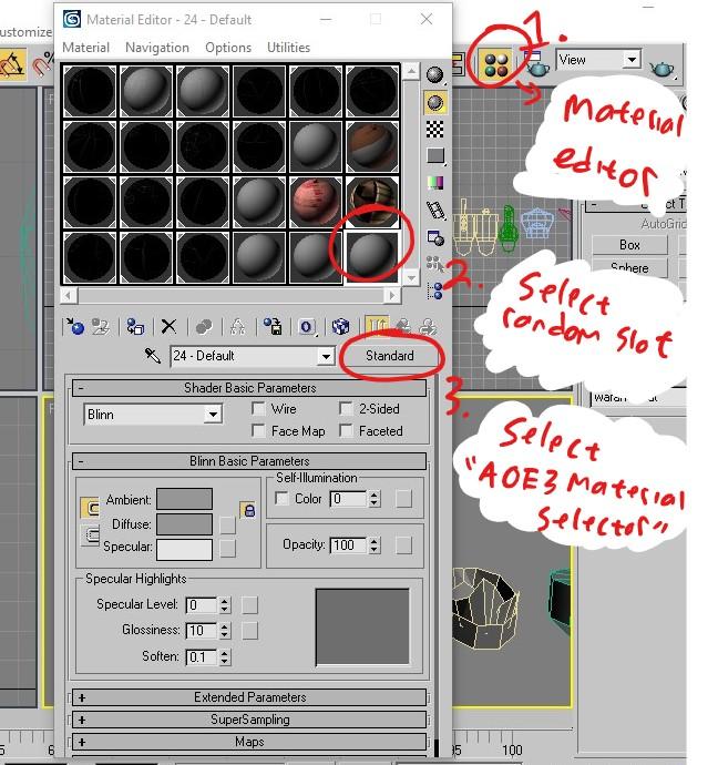 3dsmax8 create shader