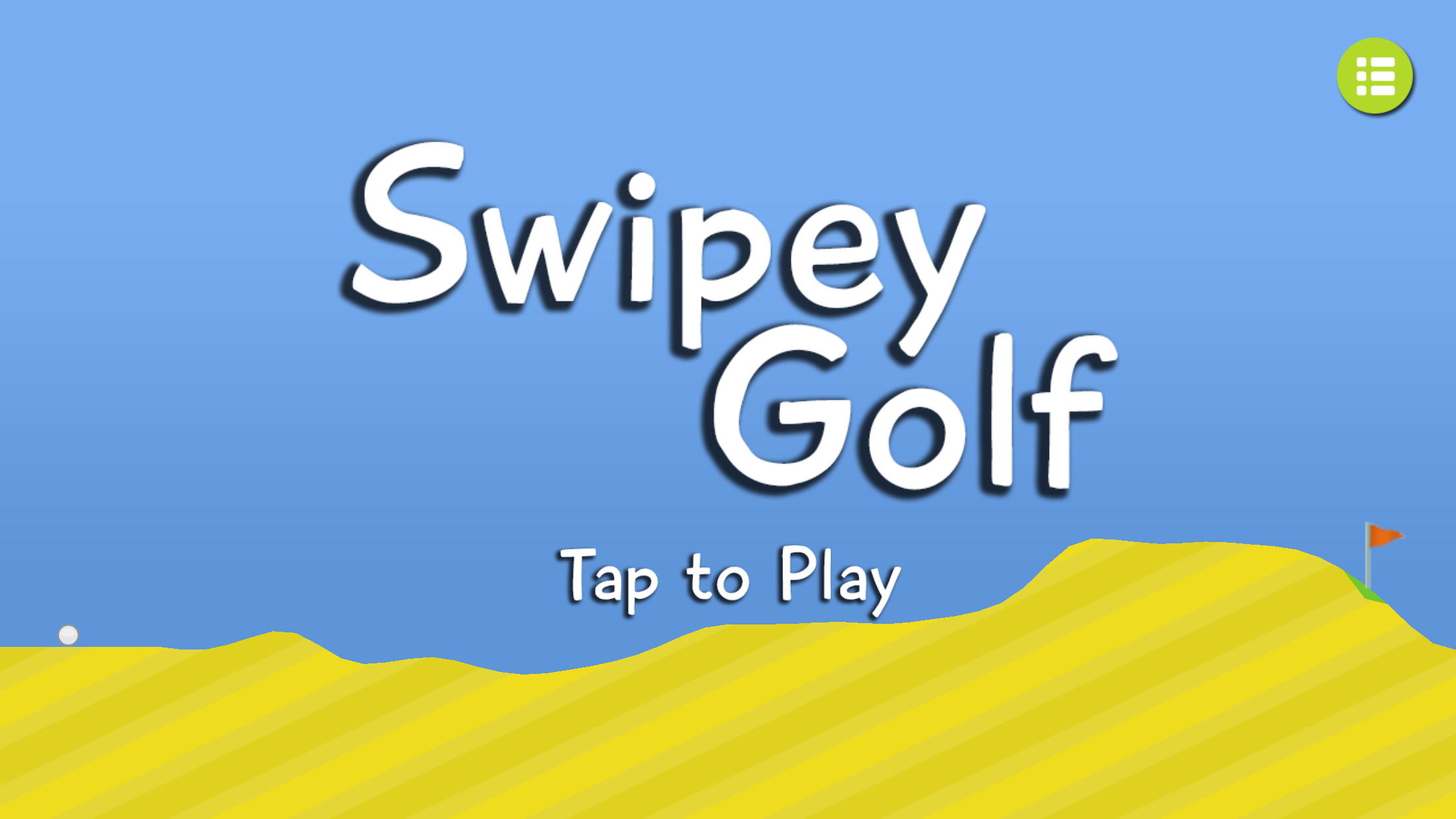 Swipey Golf home screen