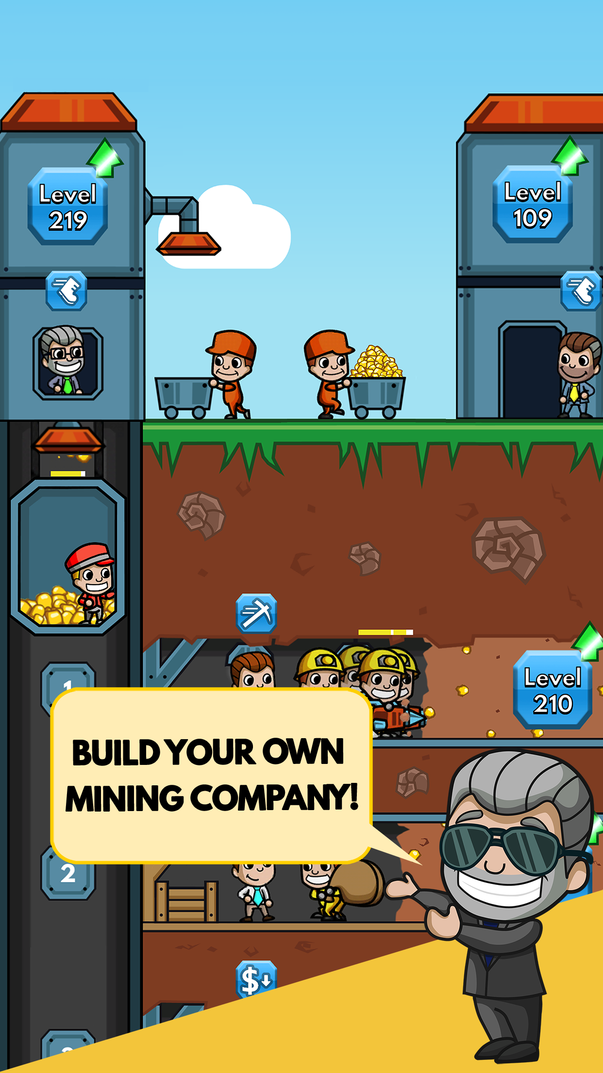 Build your own mining company