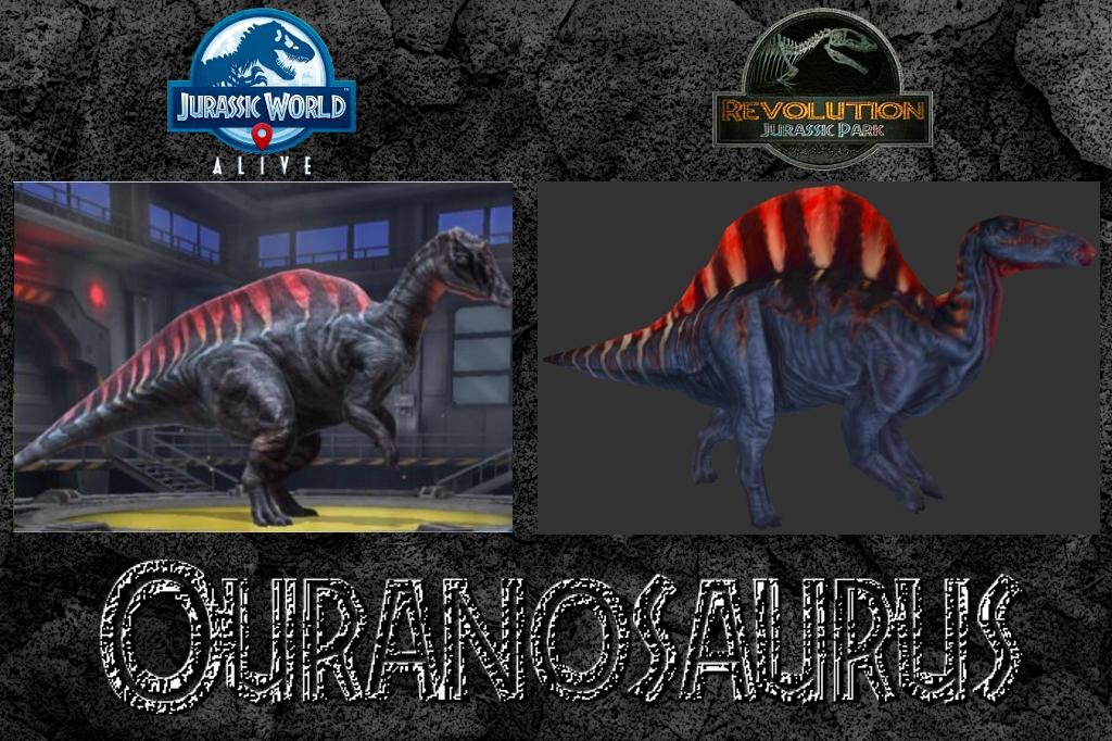 Ouranosaurus comparison