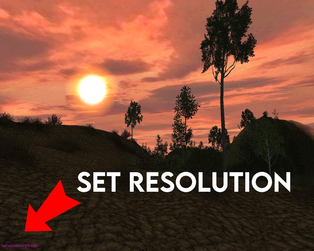 SET RESOLUTION
