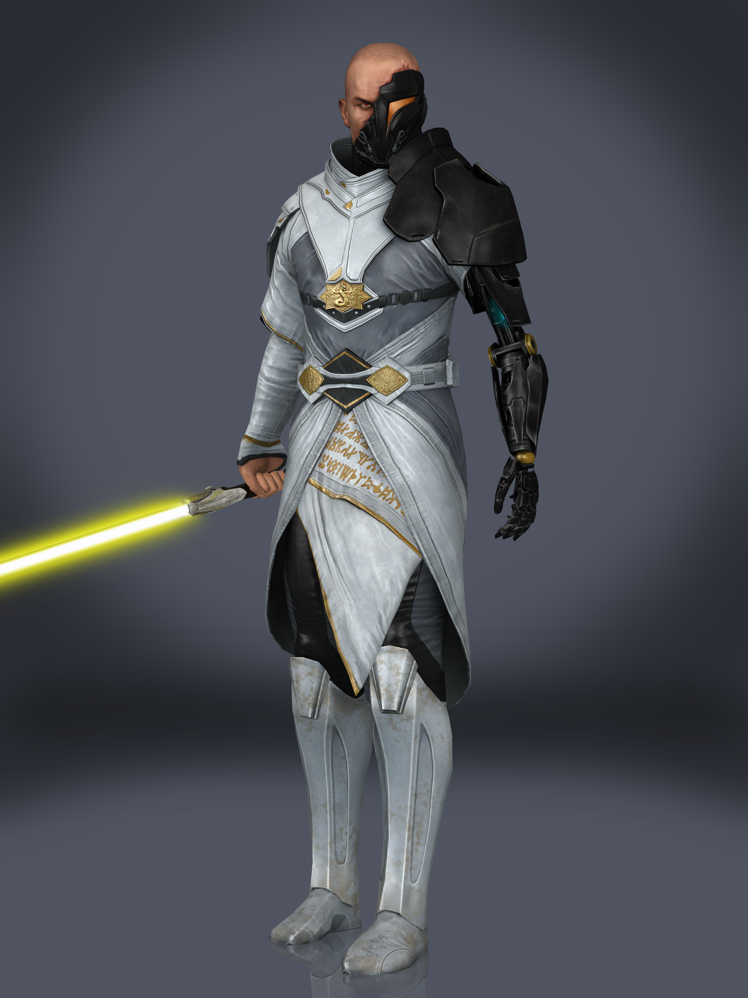 Arcann with his lightsaber