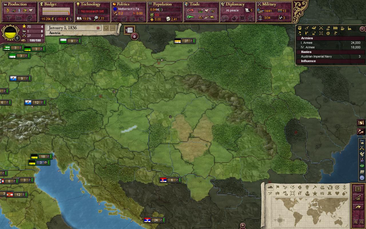 The Carpathian Mountains in vanilla