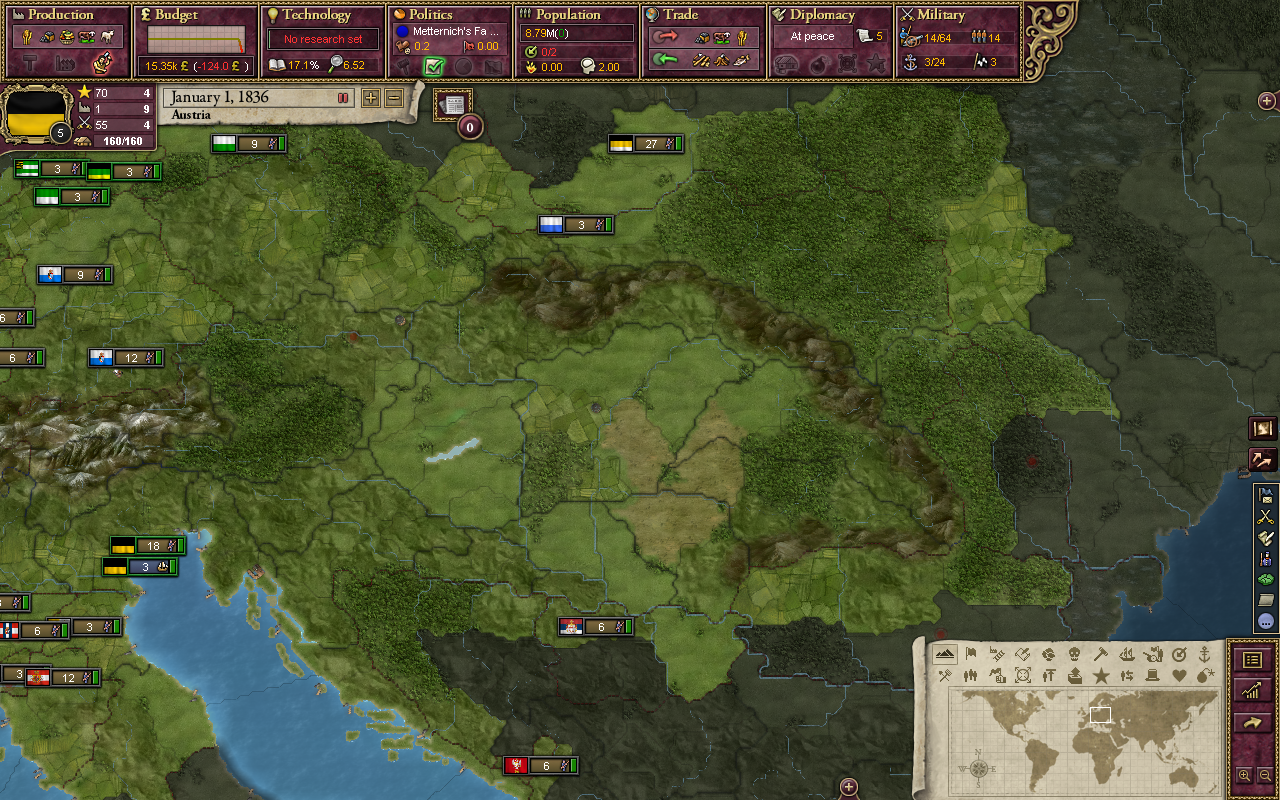 The Carpathian Mountains in the mod