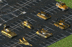 Various vehicles you encounter in the campaigns.