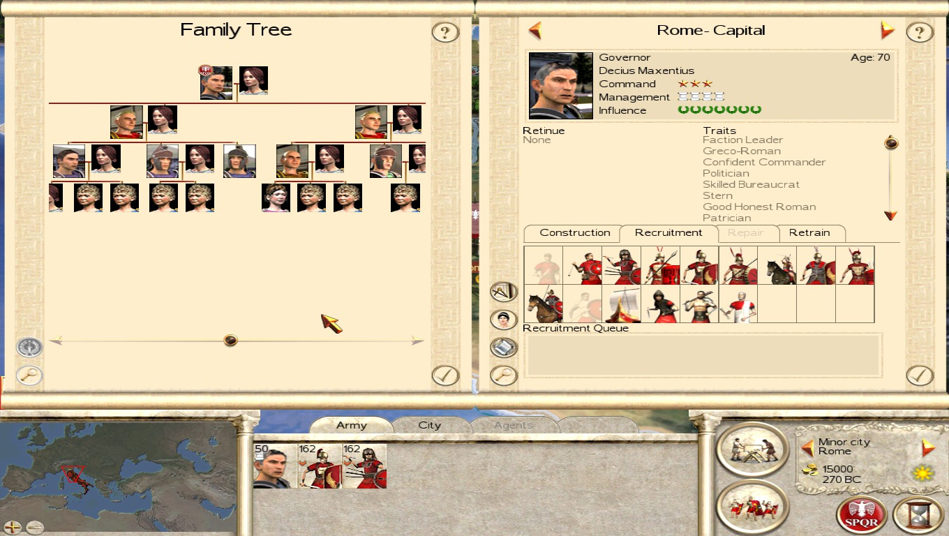Roman families merged into one