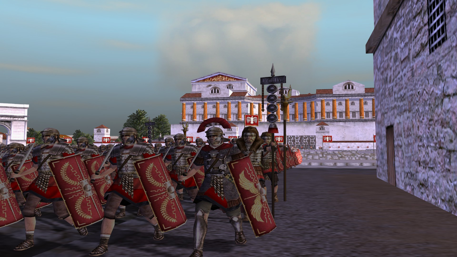 Romans Marching in City