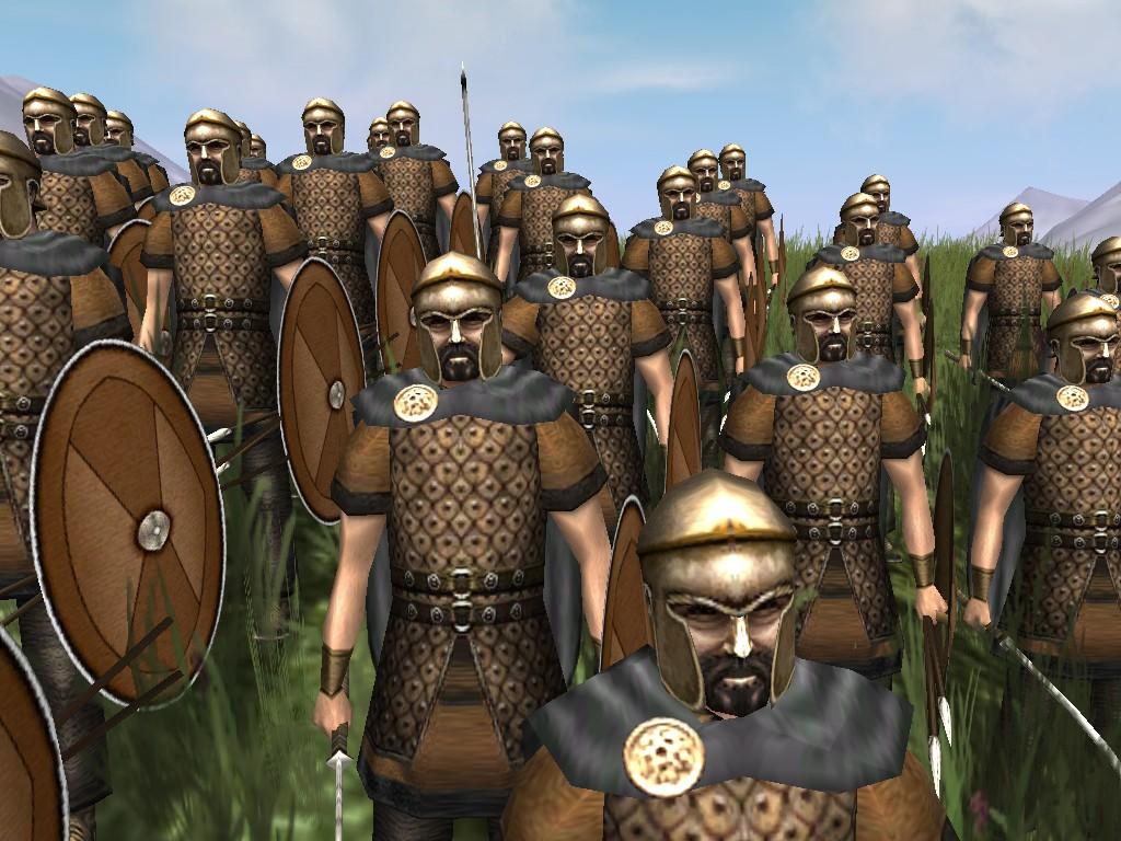 Veteran Swordsmen waiting for th