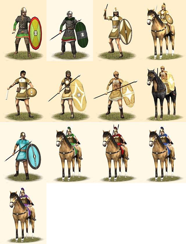 Iberians, Gauls, Romans, Thracians