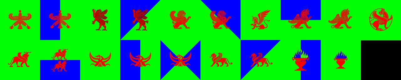 Zoroastrian coat of arms pattern