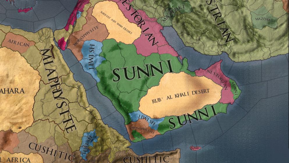 Religions of Arabian Peninsula, A.D. 633