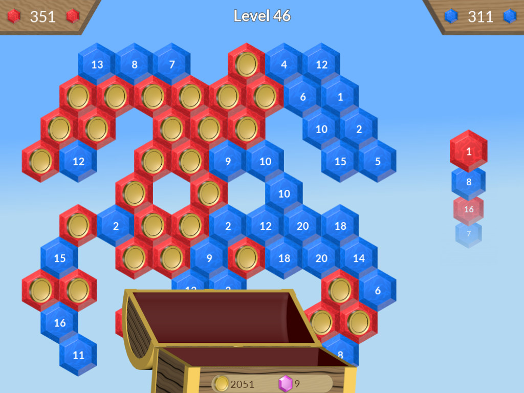 Sky Hex game play screenshot