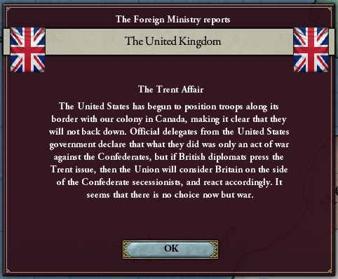 Trent Affair UK response