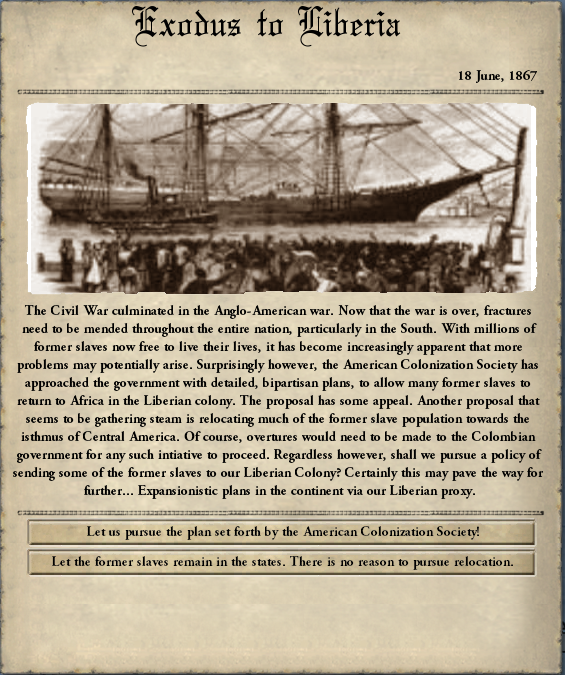 exodus to liberia