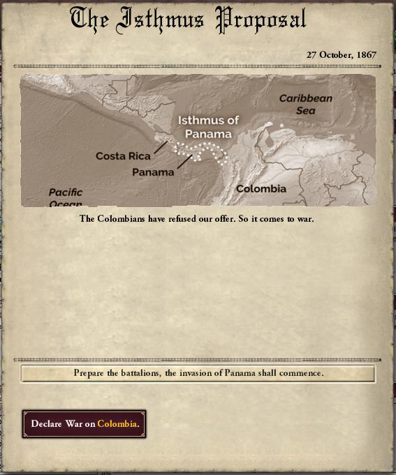 isthmus proposal war